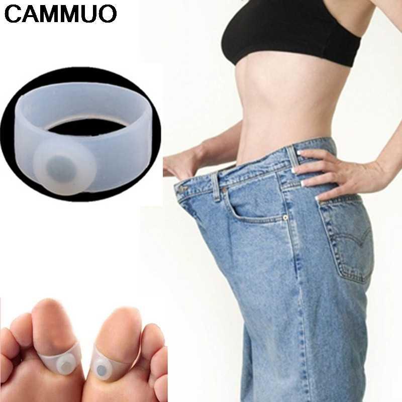 2 ピース/ペア磁気治療痩身製品体重を減らす脂肪脂肪燃焼ボディ磁気フットマッサージ足リング