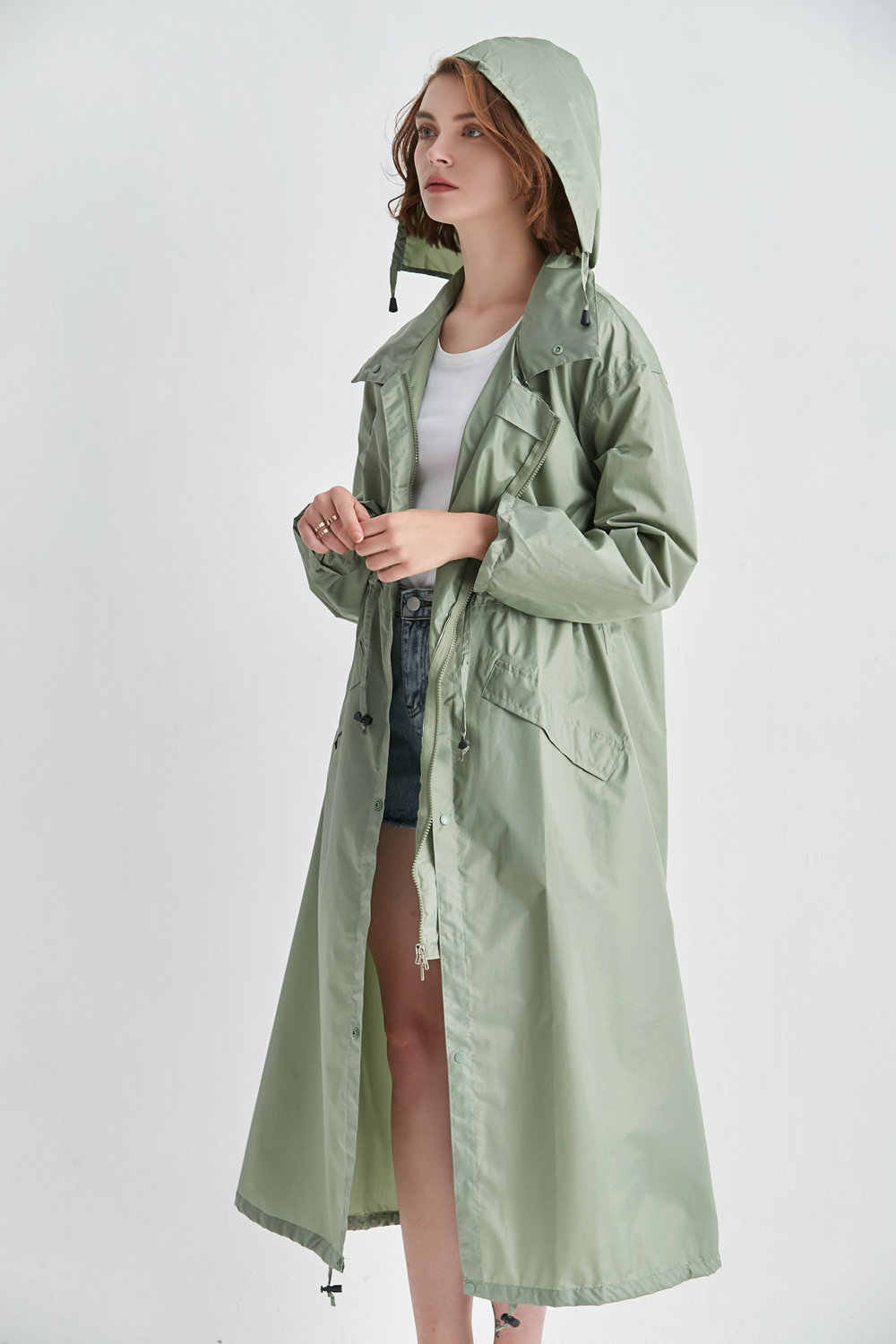 choose clearance wholesale outlet discount coupon long raincoat women poncho waterproof Outdoors Tour Hooded ...