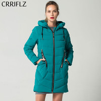 New Fashion Women's Winter Jacket Coat Slim Hooded Thick Warm Down Parkas Long Female Down Jacket CRRIFLZ 2018 Winter Collection