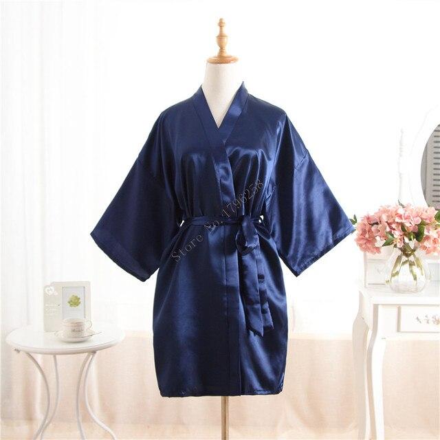 Short Kimono Robe Night Robe Bath Robe Fashion Dressing Gown For ...