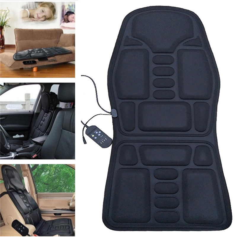 Intelligent Electric Mulifunction Back Heated Massage Car Seat Home Office Cushion Car Seat Chair Massager Lumbar Back Neck Pad Relaxation Famous For High Quality Raw Materials And Great Variety Of Designs And Color Full Range Of Specifications And Sizes