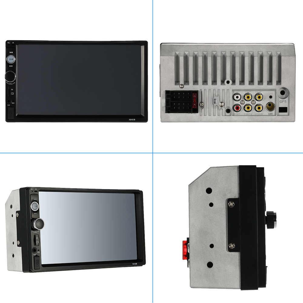 2Din BYNCG coche reproductor MP3 Autoradio Panel de pantalla táctil Universal coche Radio Audio Video 7010B soporte FM/MP5/ USB/AUX/Bluetooth