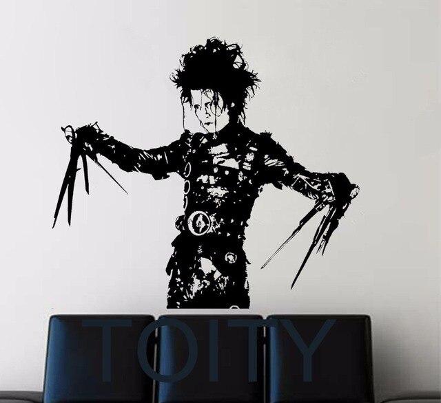 Edward Scissorhands Wall Vinyl Sticker Classic Film Poster Decal Dorm Home Interior Living Room Art Decor Removable Mural