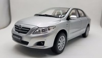 1:18 Diecast Model for Toyota Corolla 2008 Silver Rare Alloy Toy Car Miniature Collection Gifts