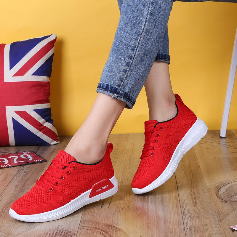 2019 Spring Fashion Pink White Platform Sneakers Women Casual Shoes  Breathable Ladies Sneakers Shoes Basket Femme Tenis Feminino c576a2d74c16