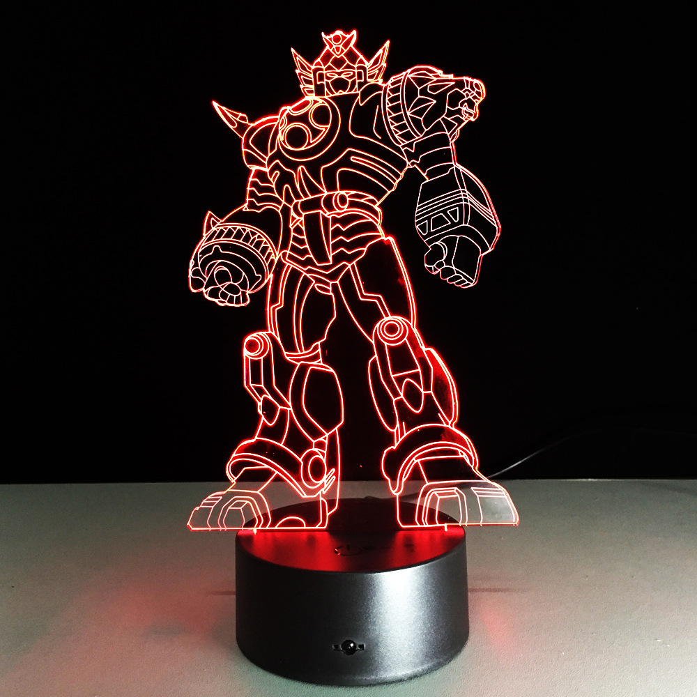 New Cool Anime Transformation 3D Lamp Kids Toys Action Figures Movie Robot LED Night Light Kids Boys Toys Gifts 9cm gundam action figures japanese anime figures kids gifts toys brinquedos hot toys for children robot