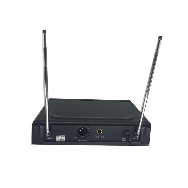 Système de Microphone sans fil double Microphone à main sans fil Kit de Microphone sans fil professionnel 2 canaux pour karaoké en Studio - 4
