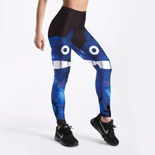 8933824581d Pottis Women Leggings 3D Printed Blue Sky Chinchilla Cartoon Gradient  Leggins Pencil Pants Legging
