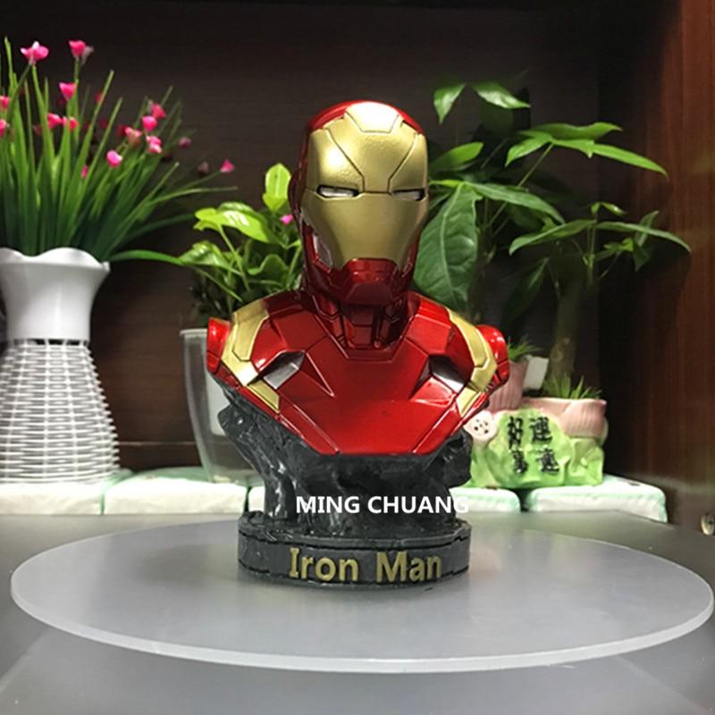 Statue Avengers Tony Stark DC Comics Superhero Iron Man Bust 1:4 MK46 Half-Length Photo Or Portrait MARK4 Resin Action FigureToy avengers captain america 3 civil war iron man 1 2 bust mk46 half length photo or portrait the statue resin hand model wu571