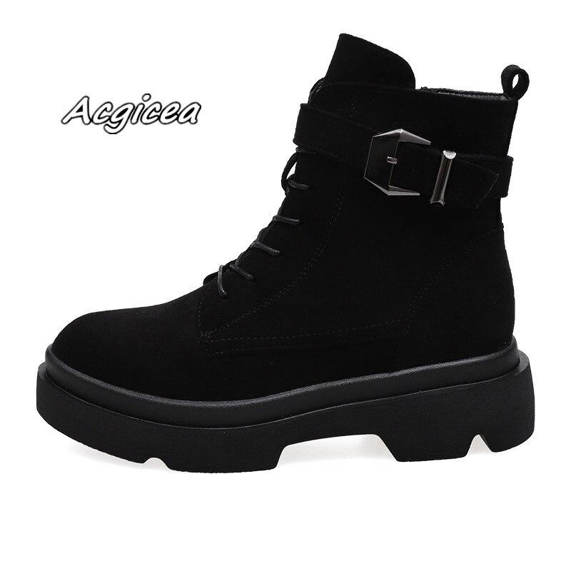 efd7f80bad0 Terciopelo 2019 Cabeza Redondo Invierno Martin Color T29 Moda Salvaje  Zapatos De Black La Nuevas Casuales Cómoda Sólido Las Botas Mujeres  Anwwa51qB