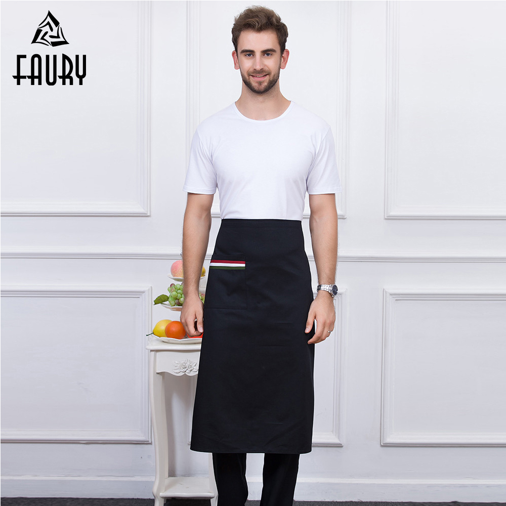 5 Colors Wholesale Apron With Pockets Food Service Kitchen Hotel Coffee Shop Bakery Chef Waiter Cleaning Home Cooking Work Apron