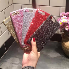 Luxury Bling Shining Sequins Glitter Phone Cases for iPhone 5 5s 6 6S 7 8 Plus X XR XS Max Shockproof PC Hard Case For Girls