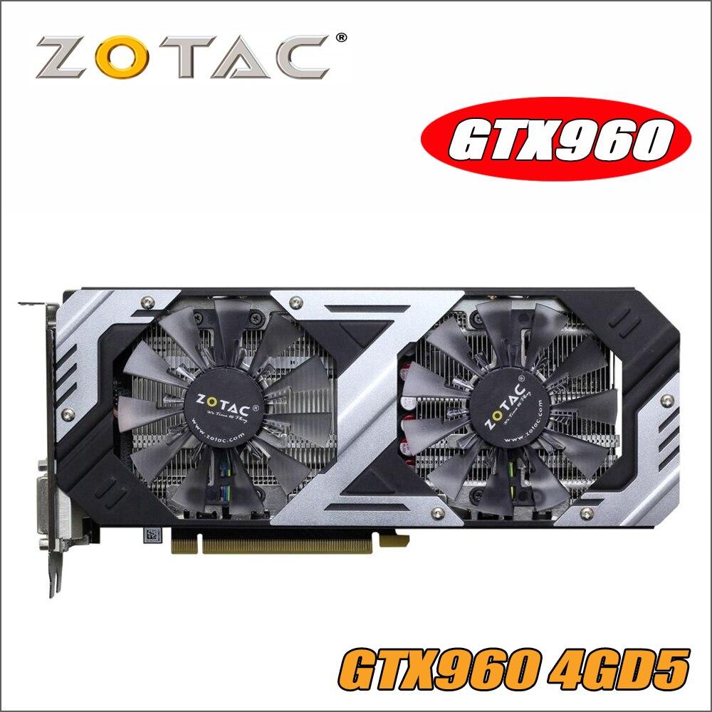 Carte graphique d'origine ZOTAC GeForce GTX 960-4GD5 Thunderbolt HA pour NVIDIA GTX900 GTX960 4GD5 4G cartes vidéo 7010 MHz GM206
