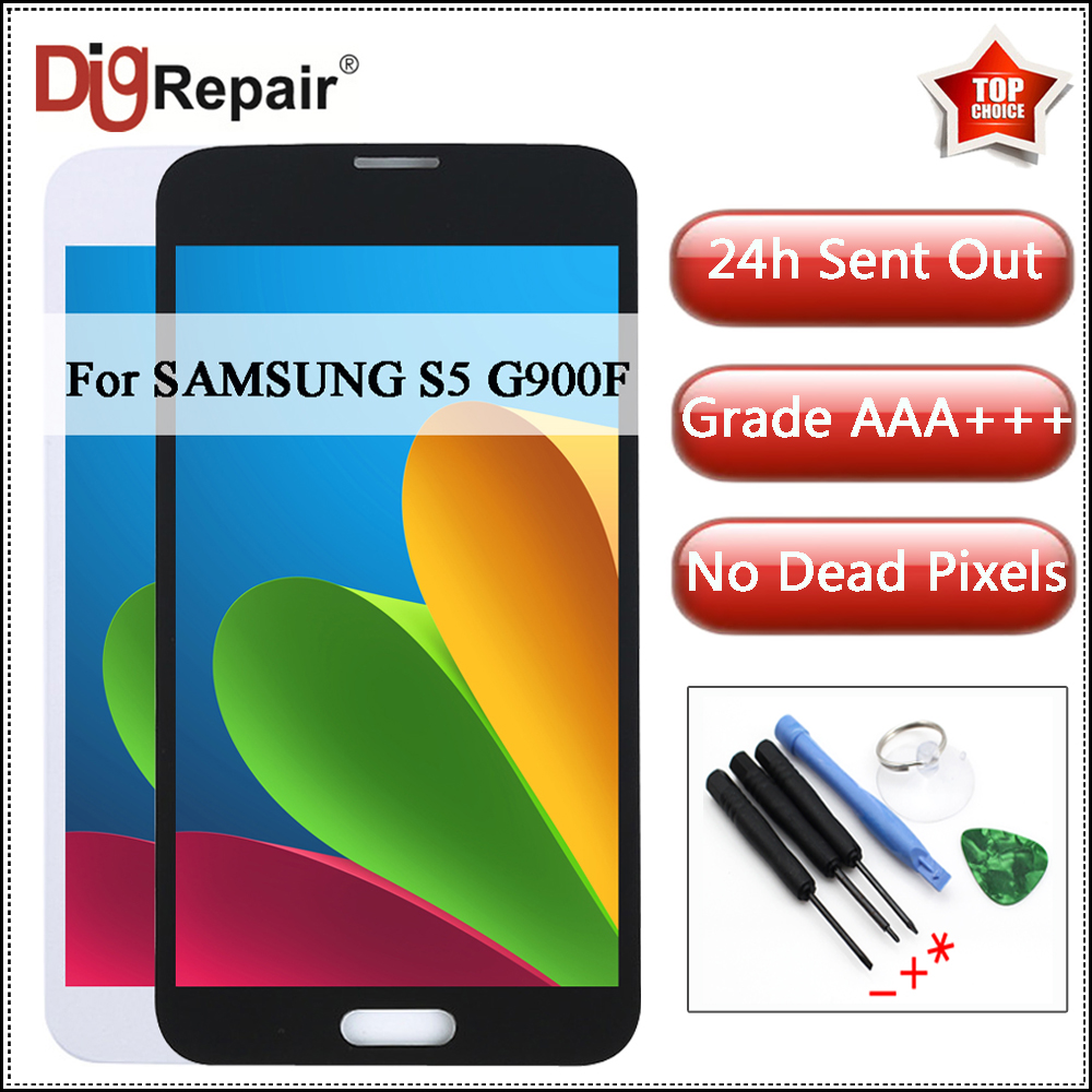 G900 Lcd For Samsung Galaxy S5 Display G900A G900F G900P G900T G900V LCD Display Digitizer Touch Screen Parts For Samsung S5 LCD