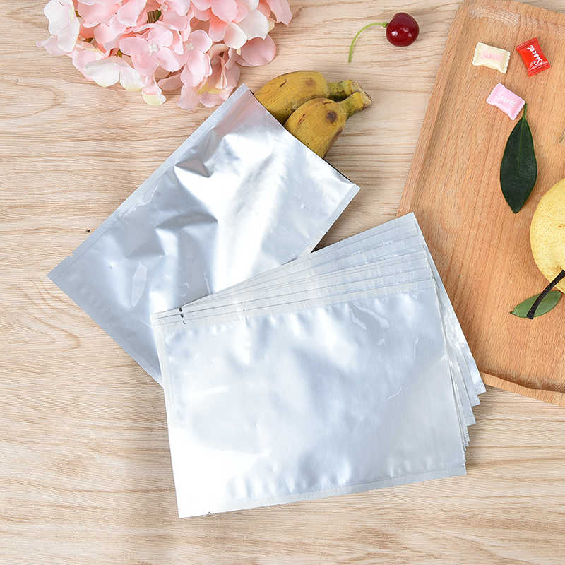 10 stks Uitstekende Kwaliteit Nieuwe Zilveren Aluminiumfolie Vacuümzak Mylar Bag Sealer Voedsel Opslag Pakket 12*18 cm