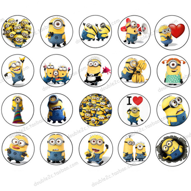 wafer paper for cup cake topper minion minions birthday party