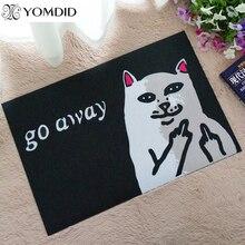 Vaya gato gruñón gato con el dedo medio felpudo estera carpet interior antideslizante alfombra de baño alfombras de entrada