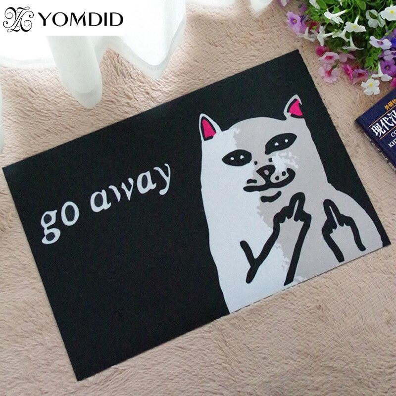Cat With Middle Finger mat doormat Go Away Grumpy Cat Carpet Entrance Indoor Non-slip Floor Mat bathroom Rugs