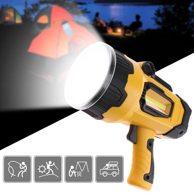 High quality rechargeable built-in battery usb handed Lamp Powerful led searchlight 10W Super Bright flashlight for Hunting high power portable searchlight rechargeable waterproof hunting night fishing flashlight built in battery