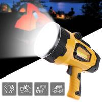 High quality rechargeable built in battery usb handed Lamp Powerful led searchlight 10W Super Bright flashlight for Hunting
