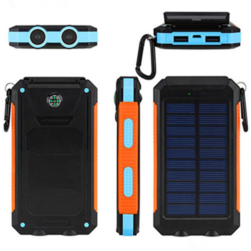 50000mah Solar Panel Led Dual Usb Ports no Battery No Battery Diy Power Bank Case Battery Charger Kits Box Moderate Price