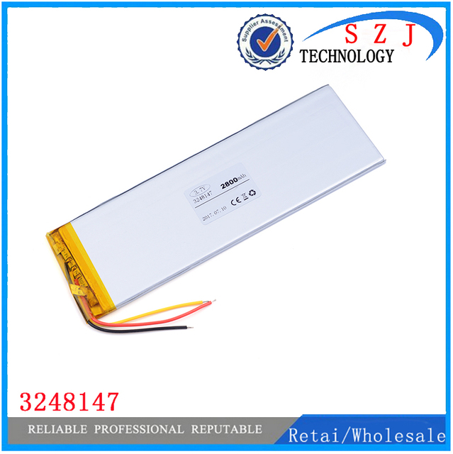 """3 Wires Inner Exchange Battery PL 3248147 2800mAh for 7"""" TABLET Batteries Replacement Irbis TX18 Free Shipping"""