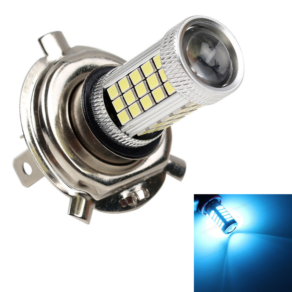 CYAN SOIL BAY Fog Light Car Vehicle Auto H4 HB2 2835 63 66 SMD High Low Beam Ice Blue Bulb Lamp 9003 For DRL Bright Than 33 SMD  car vehicle 9006 hb4 2835 63 66 smd 1200lm white bulb fog light for drl 6000k 12v 24v bright than 33 smd