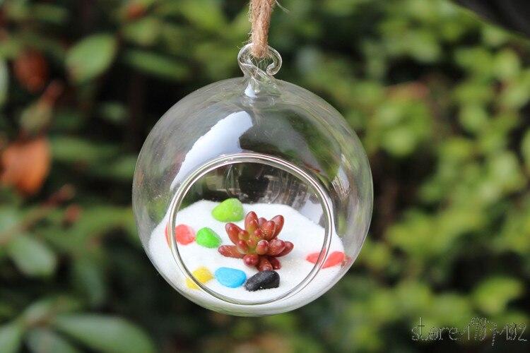 10 шт. модные прозрачный стеклянный круглый Террариум цветок РП висит ваза гидропоники домашнего офиса Свадебный декор сада