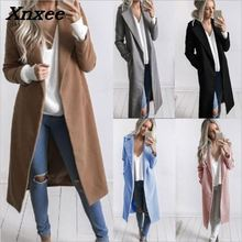 Fashion Women Winter Warm Wool Lapel Trench Coat Slim Outwear Overcoat Xnxee women winter warm lapel trench parka coat jacket long slim overcoat outwear