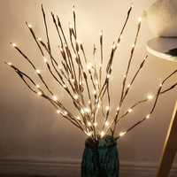 LED Willow Branch Lamp Floral Lights 20 Bulbs Home Party Garden Decor Christmas Birthday Gift gifts Desktop Decoration Lights 1