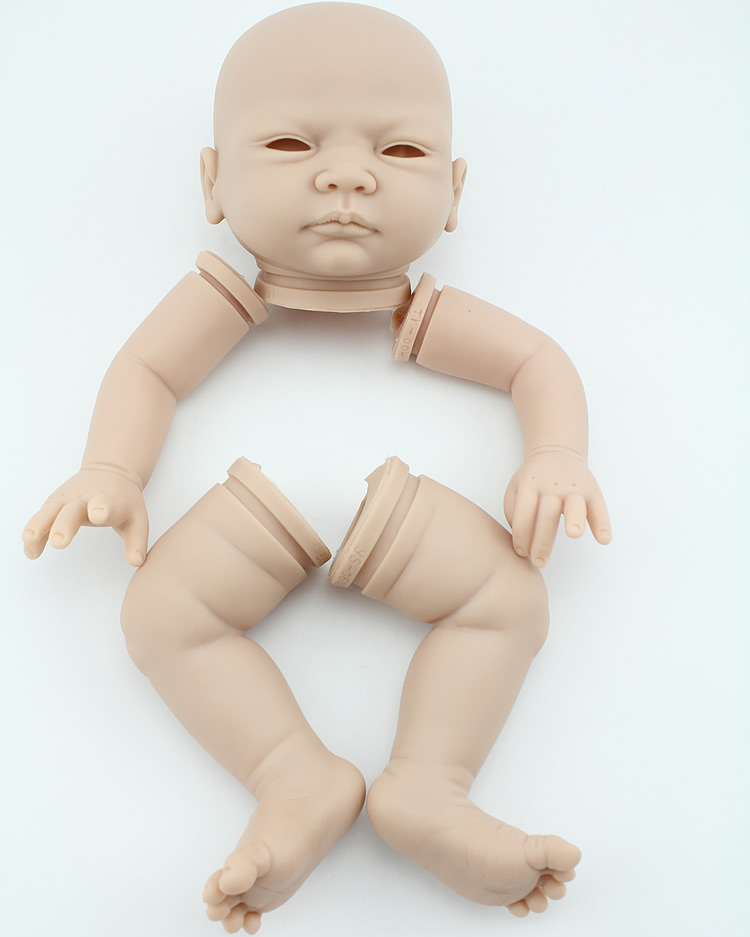 DIY silicone vinyl reborn baby doll mold creative lifelike handmade doll kits high-end toddler accessories legs arms and head 22inch reborn baby doll kits silicone vinyl head 3 4 arms and legs baby dolls lifelike doll accessories bonecas brinquedos