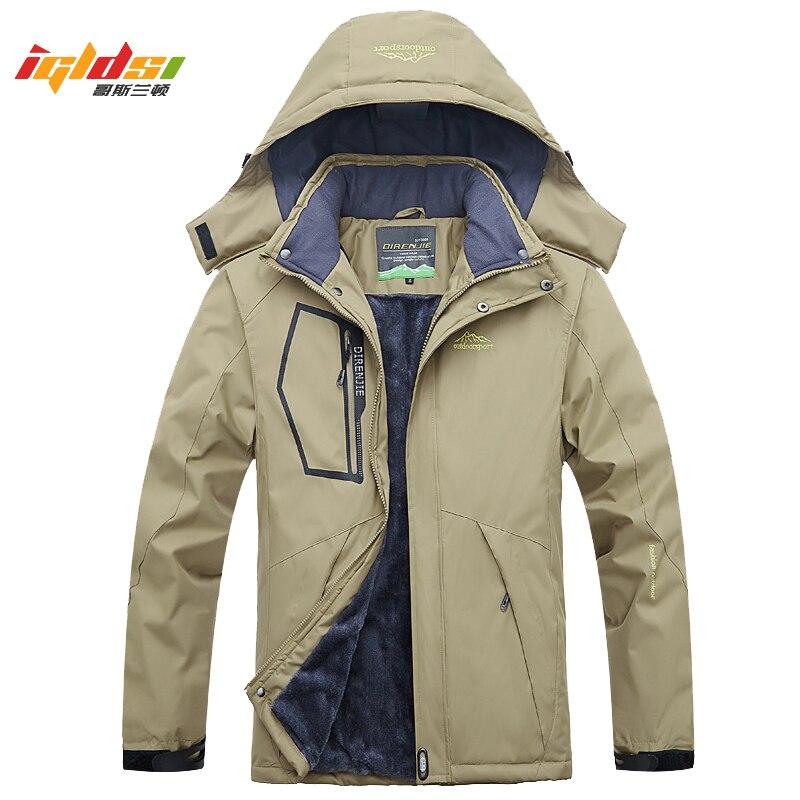 Winter Fleece Military Jackets and Coat Men Windproof Waterproof Windbreaker Outwear Down   Parkas   Detachable Army Raincoat L-5XL