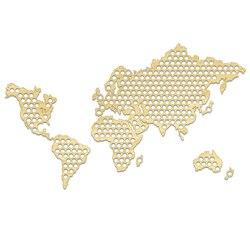 Criativo de madeira artesanato mapa do mundo garrafa tampa de cerveja mapa artesanal pendurado mapa do mundo moderno casa decoração amantes cerveja presentes