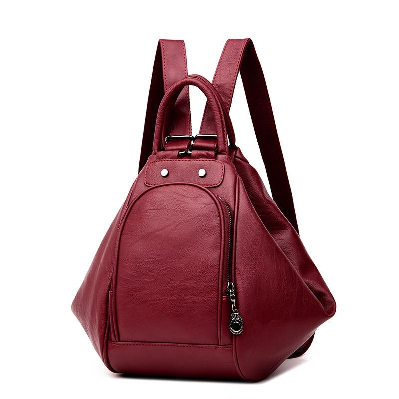 Responsible Three-box 2019 Fashion Women Leather School Vintage Backpack Men Small Schoolbag Mochila Feminina Brown Black Backpacks Luggage & Bags Backpacks