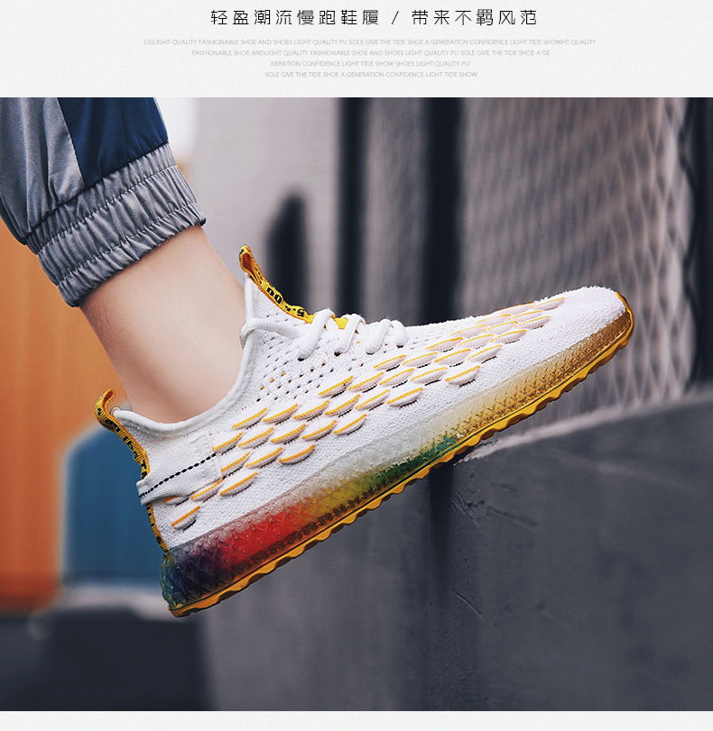 HTB173tlXk9E3KVjSZFrq6y0UVXaN Casual Fashion 4D print Men's dad Sneakers Flying Weaving Mesh Breathable Men Shoes Outdoor tenis Footwear Zapatillas Hombre