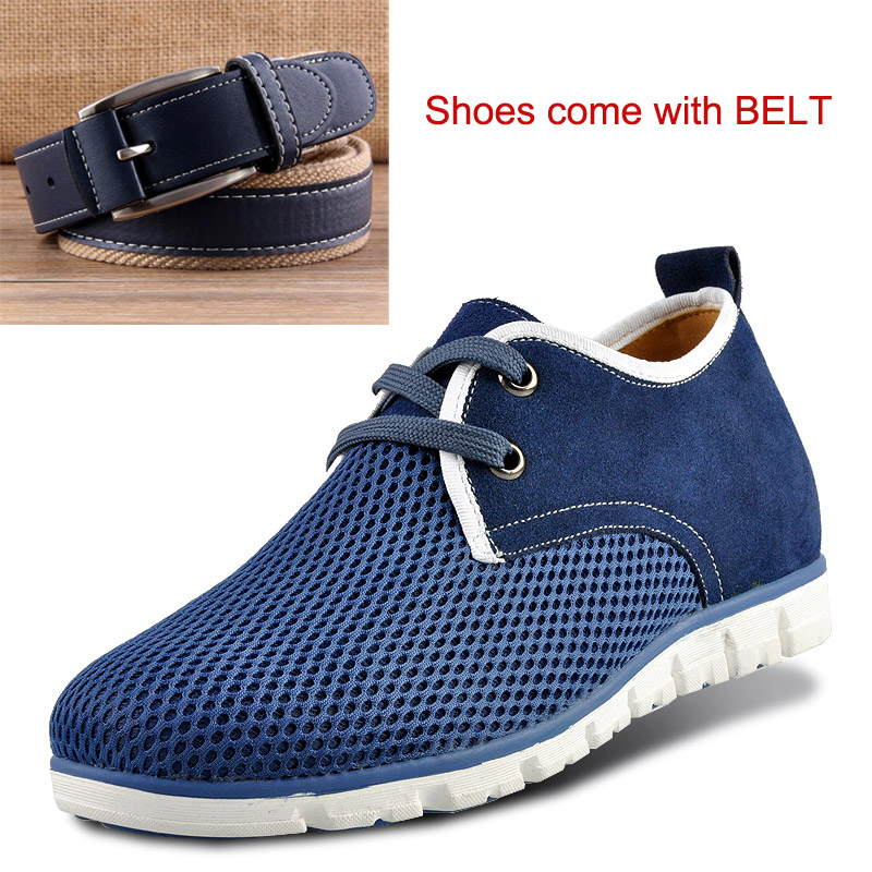 New Summer Comfortable Casual Height Increasing Elevator Shoes for Boys / Mens Get Taller 6cm Breathable