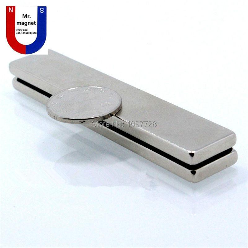10 pièces qualité supérieure 100x20x5mm Super forte neo neo dymium aimant 100x20x5, ndFeB aimant 100*20*5mm, 100mm x 20mm x 5mm aimants