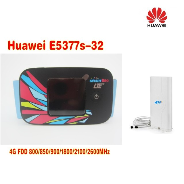 US $98 0 |Unlock Huawei E5377 E5377s 32 CAT4 150Mbps 4G LTE Wireless Router  3G UMTS WiFi Mobile Hotspot+4G TS9 49DBi antenna-in 3G/4G Routers from