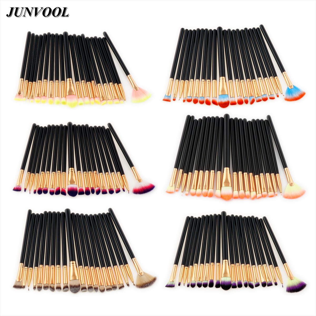 цены Pro 20pcs Eyes Makeup Brushes Set Foundation Eyeshadow Eyeliner Lip Cosmetic Fan Brush Toiletry Kit Pincel Maleta De Maquiagem