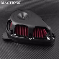 Multi Angle Air Cleaner Air Filter Matte Black For Harley Sportster XL 91 17 Dyna 00 17 Softail 00 18 Touring FLHX FLHR 00 2018