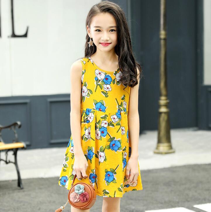 97c54eba6d16 ... 8 10 12 14 Years Plus Size. . Summer Girls Dress Cotton Bohemian  Floral Tunic Beach Dress children kids casual Sundress For 4 6. sku:  32971197647