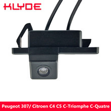 KLYDE Night Vision Car Rear View Reverse Parking Camera For Peugeot 307 Hatchback/ Citroen C4 C5 C-Triomphe C-Quatre Hatchback