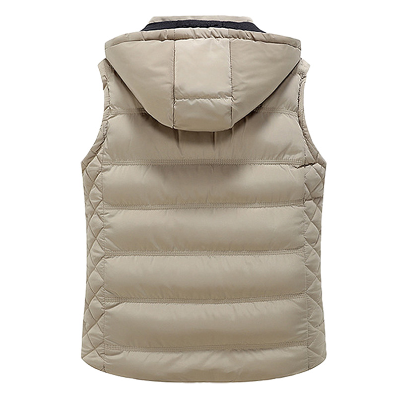 Winter Warm New Men Thickening Vest Male Padded Casual Parka Slim Fit Autumn Waistcoat Sleeveless Jacket 2018 Plus Size XXXL in Vests amp Waistcoats from Men 39 s Clothing