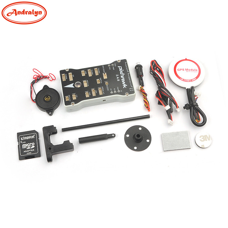 Tarot Pixhawk PX4 2.4.8 32Bit ARM Flight Controller Integrate PX4FMU PX4IO M8N GPS with SD Card Safety Switch & Buzzer Combo original naza gps for naza m v2 flight controller with antenna stand holder free shipping