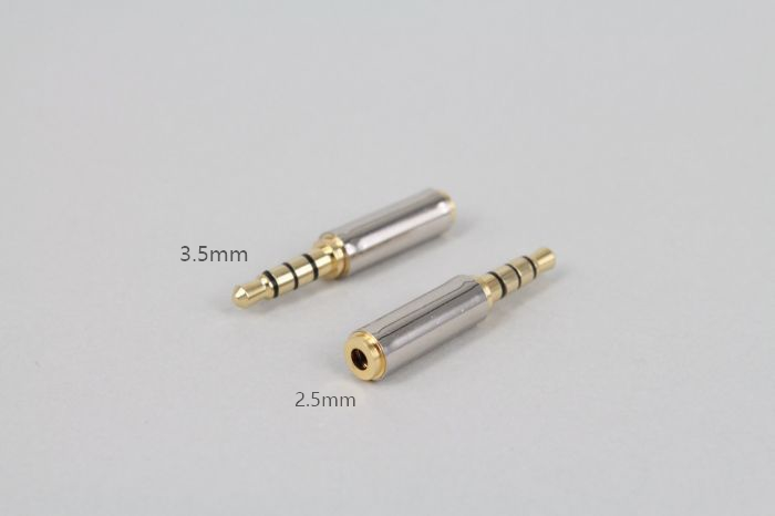 New Adapter Converter Gold 3.5mm Male To 2.5mm Female Stereo Audio Headphone Jack High Quality
