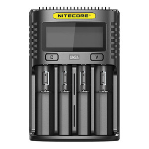 Image 2 - NITECORE UMS4 UMS2 SC4 Intelligent Faster Charging Superb Charger with 4 Slots Output Compatible 18650 14450 16340 AA Battery