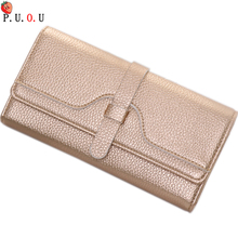 2019Fashion Long Women Wallets High Quality Genuine Leather Women's Purse and Wallet Design Lady Party Clutch Female Card Holder sendefn genuine leather wallet women wallets and purses female designer brand clutch long purse lady party wallet card holder