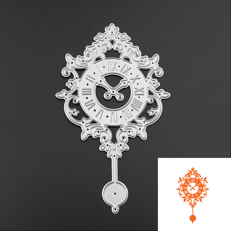 Steel Dies Cut Stencils Fashion Clock Design Metal Cut Dies DIY Scrapbooking Album Embossing Paper Cards Dekorative Håndværk