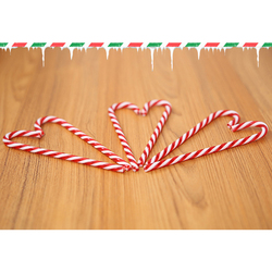 6Pcs/Lot Candy Crutch Pendant Christmas Tree Decor Hanging Ornament For New Year Xmas Party Striped Candy Cane Sticks Kids Gift 3