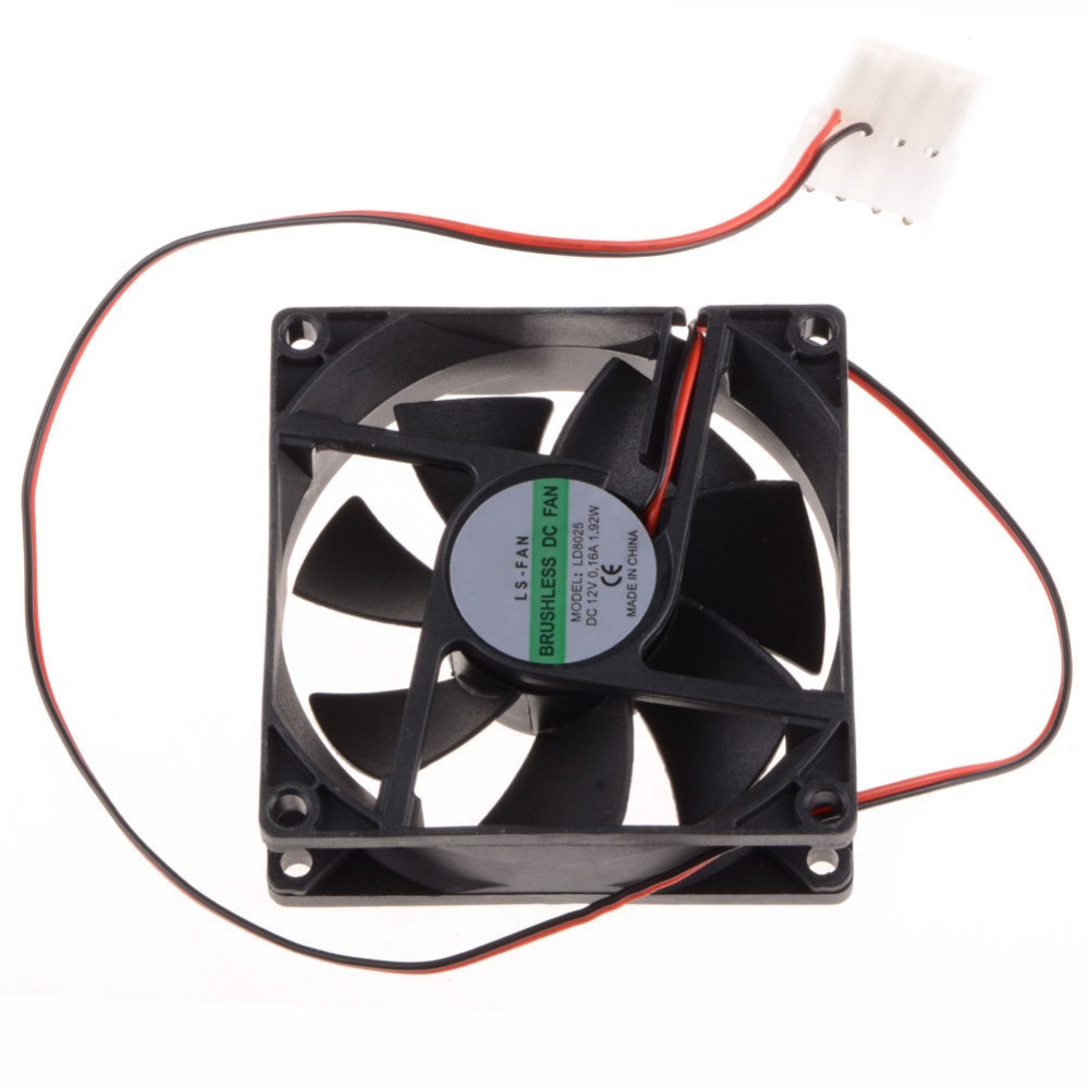 80*80*25 MM Personal Computer Case Cooling Fan DC 12V 2200RPM 45CM Fan Cable PC Case Cooler Fans Computer Fans P20 computador cooling fan replacement for msi twin frozr ii r7770 hd 7770 n460 n560 gtx graphics video card fans pld08010s12hh